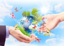 Concept de la terre d'héritage pour des générations futures Photos stock