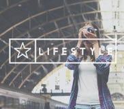 Concept de la vie d'habitudes de simplicité de mode de vie Photographie stock libre de droits