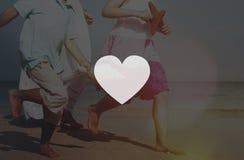 Concept de la vie de passion de symbole d'amour de soins de santé de coeur Photographie stock libre de droits