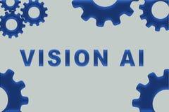 Concept de la VISION AI illustration de vecteur