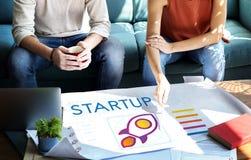 Concept de lancement d'esprit d'entreprise de jeune entreprise Photo stock