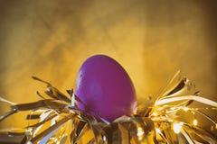 Concept de lapin d'oeuf de pâques sur un nid photo libre de droits