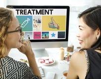 Concept de lecture rapide de soins de santé de médicament d'injection de seringue Photos libres de droits
