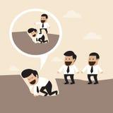 Concept de Ledership : Marche au-dessus du corps de directeur à C illustration libre de droits