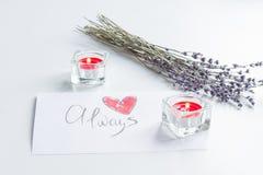 Concept de lettre d'amour de jour du ` s de Valentine sur le fond blanc Image libre de droits