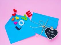 Concept de lettre d'amour de jour du ` s de mère d'Appy Image stock