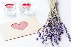 Concept de lettre d'amour de jour du ` s de Valentine sur le fond blanc Images stock