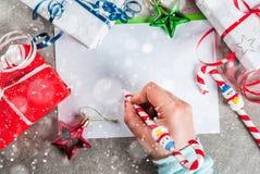 Concept de lettre de Noël image libre de droits