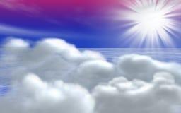 Concept de lever de soleil Image stock
