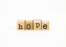 Concept de libellé, de désir et d'attente d'espoir Image stock