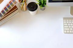 Concept de lieu de travail, fond d'espace de travail et espace de copie Photo libre de droits