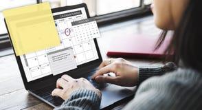 Concept de liste de contrôle d'ordre du jour de tâche de planificateur de programme images libres de droits