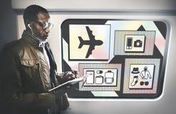 Concept de liste de préparation d'accessoires d'articles de voyage Photos libres de droits
