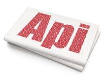 Concept de logiciel : Api sur le fond vide de journal Photographie stock libre de droits