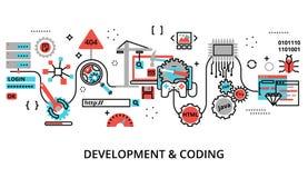 Concept de logiciel de développement et de programmation Photographie stock