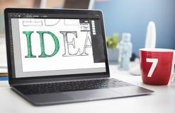 Concept de logiciel d'édition de textes d'idée Image stock