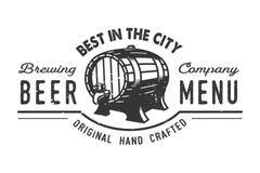 Concept de logo de bar de bière de vintage Photo stock