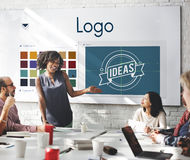 Concept de Logo Be Creative Inspiration Design Photos stock