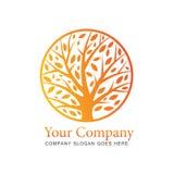 Concept de logo d'arbre Photos stock