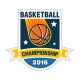 Concept de logo de championnat, de tournoi ou d'équipe de basket-ball illustration libre de droits
