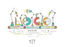 Concept de logo de création et de construction Image libre de droits