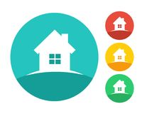 Concept de logo de maison d'immobiliers Photos stock