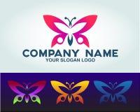 Concept de logo de papillon d'illustration illustration stock
