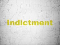 Concept de loi : Acte d'accusation sur le fond de mur illustration libre de droits