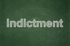 Concept de loi : Acte d'accusation sur le fond de tableau illustration libre de droits