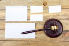Concept de LOI Carte de visite professionnelle de visite Maquette réglée de papeterie d'entreprise Éléments texturisés vides d'id Photos libres de droits