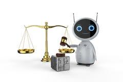 Concept de loi de Cyber illustration stock
