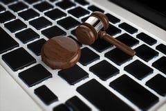 Concept de loi de Cyber Photos libres de droits