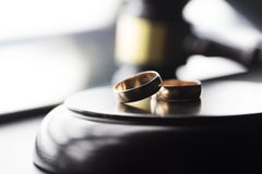Concept de loi de divorce Image libre de droits
