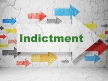 Concept de loi : flèche avec l'acte d'accusation sur le fond grunge de mur illustration stock