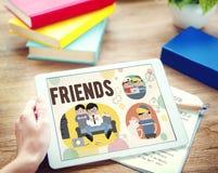 Concept de loisirs d'activité d'amitié d'amis Photographie stock libre de droits