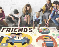 Concept de loisirs d'activité d'amitié d'amis Photo libre de droits
