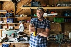 Concept de Lumber Timber Woodwork d'artisan de charpentier photos stock