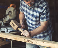 Concept de Lumber Timber Woodwork d'artisan de charpentier images libres de droits