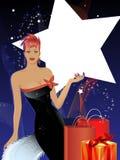 Concept de luxe saisonnier d'achats avec l'espace de copie Images stock