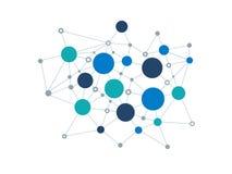 Concept de mécanisme d'affaires Fond abstrait avec les vitesses et les icônes reliées pour la stratégie, service, analytics Photos stock