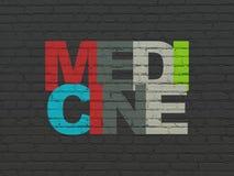 Concept de médecine : Médecine sur le fond de mur photographie stock