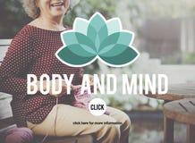 Concept de méditation de la vie de corps et d'esprit Image libre de droits