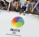 Concept de mélange de couleur de palette d'impression de RVB image stock