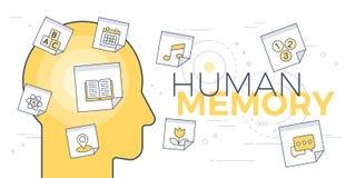 Concept de mémoire humaine illustration stock