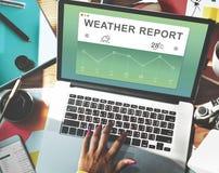 Concept de météorologie de données de rapport de temps photographie stock libre de droits