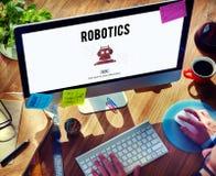 Concept de machine de la Science de cybernétique d'automation de robotique photographie stock