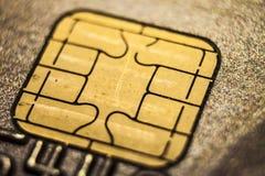 Concept de macro de carte de crédit Images libres de droits