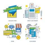 Concept de magasin discount, paiement par carte de crédit, Photo libre de droits