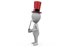 concept de magicien de l'homme 3d Photos libres de droits