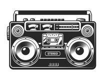 Concept de magnétophone ou de boombox de vintage Images libres de droits